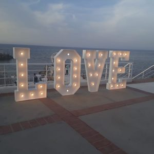 decoration weddings in north cypruslove letters