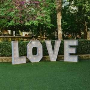 wedding decoration love letters