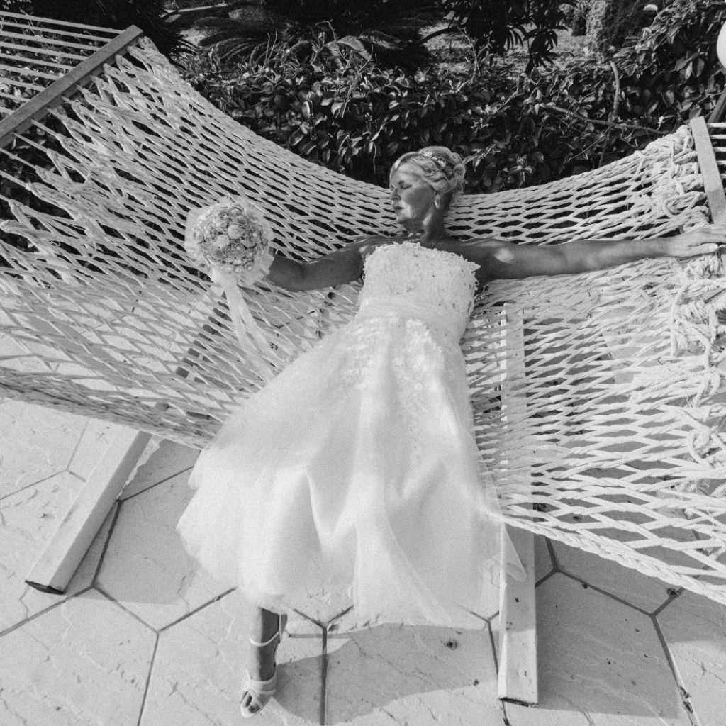 Bride on a hammock